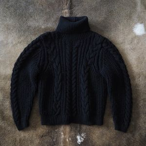MANGO | BRAIDED TURTLENECK SWEATER